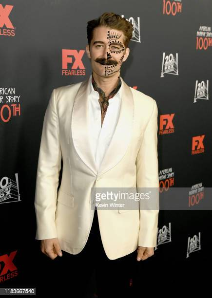 Matthew Morrison attends FX's American Horror Story 100th Episode Celebration at Hollywood Forever on October 26 2019 in Hollywood California
