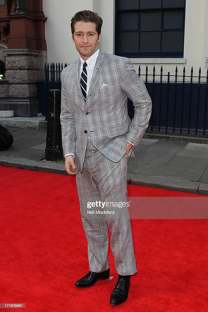 Matthew Morrison attends the press night for 'Charlie and the Chocolate Factory' at Theatre Royal on June 25, 2013 in London, England.