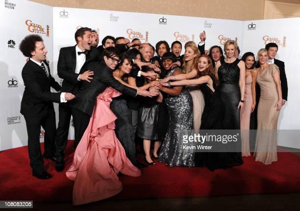 Matthew Morrison, Kevin McHale, Lea Michele, Jenna Ushkowitz, Darren Criss, producer Ryan Murphy, Mark Salling, Amber Riley,Harry Shum Jr., Dianna...