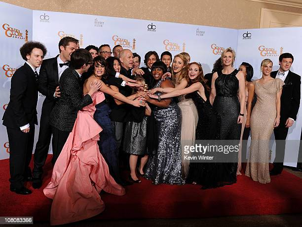 Matthew Morrison, Kevin McHale, Lea Michele, Jenna Ushkowitz, Darren Criss, producer Ryan Murphy, Mark Salling, Chris Colfer, Lauren Potter, Amber...