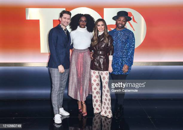 "Matthew Morrison,Oti Mabuse, Cheryl and Todrick Hall attend ""The Greatest Dancer"" photocall at LH2 Studios on March 05, 2020 in London, England."