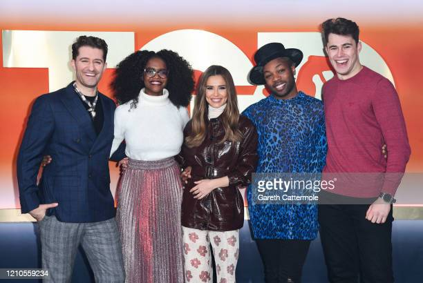 "Matthew Morrison,Oti Mabuse, Cheryl, Todrick Hall and Curtis Pritchard attend ""The Greatest Dancer"" photocall at LH2 Studios on March 05, 2020 in..."