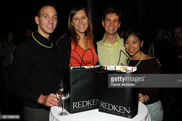 Matthew Mortellero Cat Supernabage and Alison Lee attend Dr Joyce Brown Dr Valerie Steele ELLE and Redken host a celebration for the opening of the...