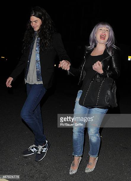 Matthew Mosshart and Kelly Osbourne are seen in Primrose Hill on September 15 2013 in London United Kingdom