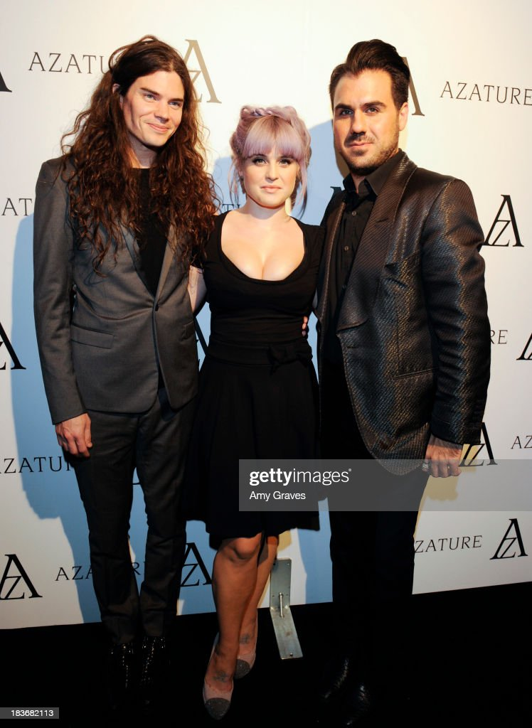 Matthew Mosshart, Kelly Osbourne and Azature Pogosian attend the Black Diamond Affair Presented by Azature at Sunset Tower on October 8, 2013 in West Hollywood, California.