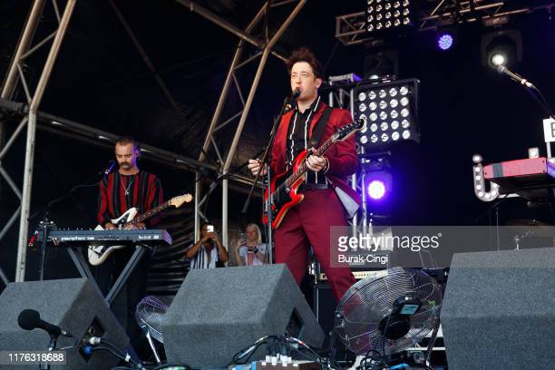 Matthew Murphy of Love Fame Tragedy performs live on the BBC Introducing stage during day three of Reading Festival 2019 at Richfield Avenue on...