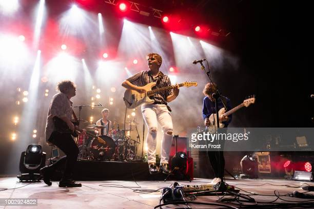 Matthew Murtagh, Dean Gavin, Craig Fitzgerald and Stephen Murtagh of The Academic perform at the Iveagh Gardens on July 20, 2018 in Dublin, Ireland.