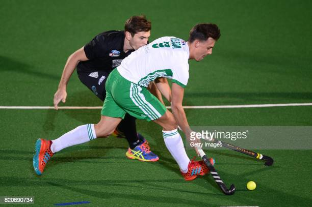Matthew Nelson of Ireland during day 8 of the FIH Hockey World League Men's Semi Finals 5th6th place match between New Zealand and Ireland at Wits...