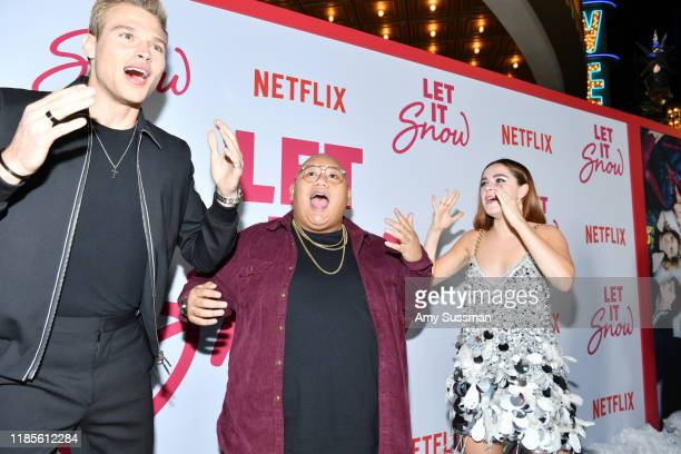 Matthew Noszka Kiernan Shipka and Jacob Batalon attend the premiere of Netflix's Let It Snow at Pacific Theatres at The Grove on November 04 2019 in...