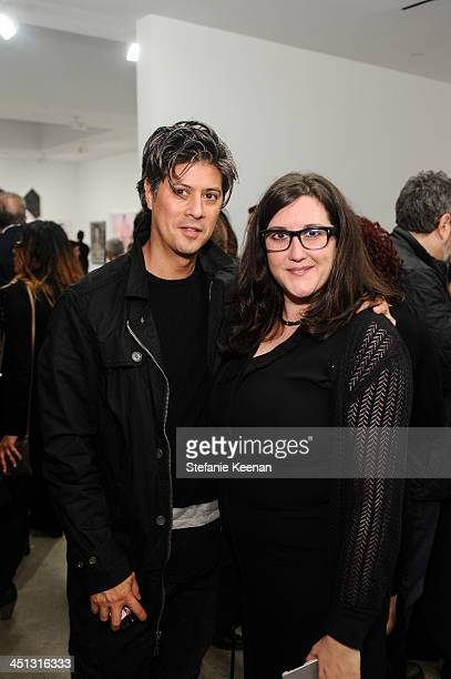 Matthew O'Sullivan and Alex Couri attend The Rema Hort Mann Foundation LA Artist Initiative Benefit Auction on November 21 2013 in Los Angeles...