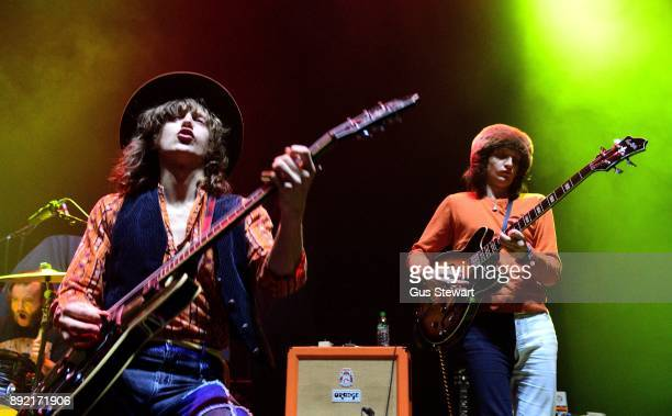 Matthew Paige and Dylan Whitlow of Blackfoot Gypsies perform on stage at the Eventim Apollo on December 10 2017 in London England