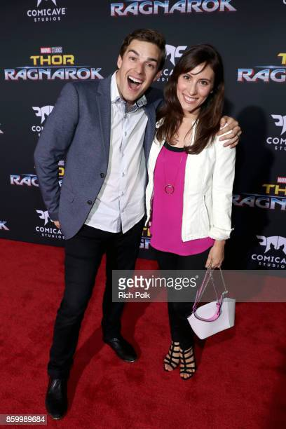 Matthew Patrick and Stephanie Patrick at The World Premiere of Marvel Studios' Thor Ragnarok at the El Capitan Theatre on October 10 2017 in...