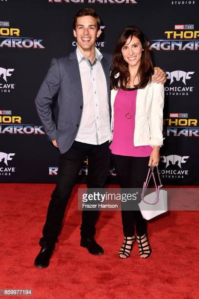 Matthew Patrick and Stephanie Patrick attend the premiere of Disney and Marvel's Thor Ragnarok on October 10 2017 in Los Angeles California