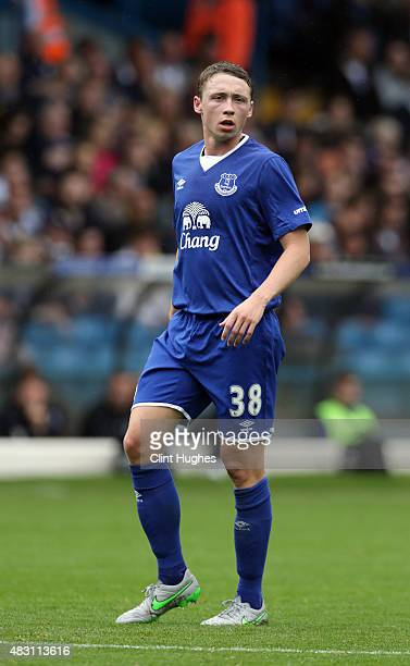 Matthew Pennington of Everton in action during the Pre Season Friendly match between Leeds United and Everton at Elland Road on August 1 2015 in...