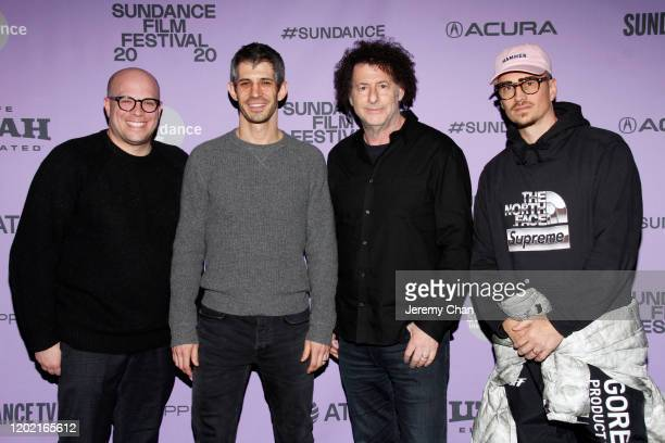 Matthew Perniciaro Gregory Kershaw Michael Dweck and Michael Sherman attend the 2020 Sundance Film Festival The Truffle Hunters Premiere at...