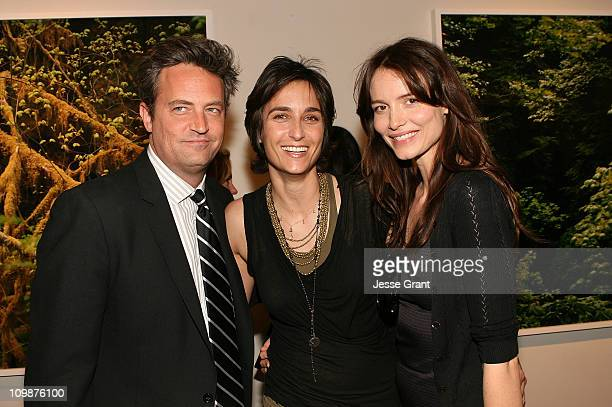 Matthew Perry Alexandra Hedison and Saffron Burrows attend Alexandra Hedison's ITHAKA opening at Month Of Photography LA at Frank Pictures Gallery on...