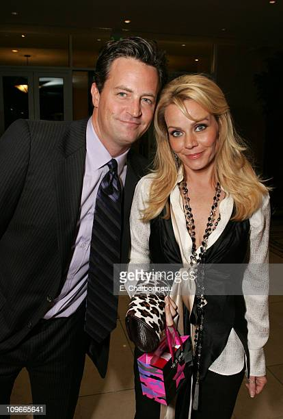 Matthew Perry and Gail O'Grady during 8th Annual Lili Claire Foundation Benefit Red Carpet at The Beverly Hilton in Beverly Hills California United...
