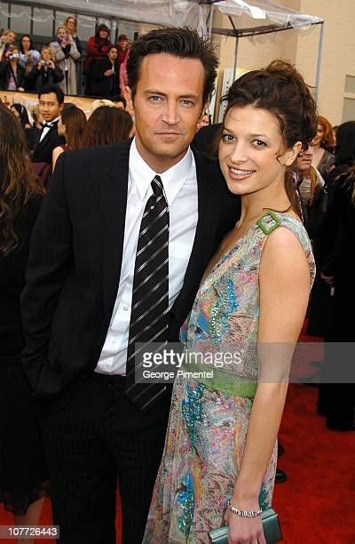 Matthew Perry and guest during 10th Annual Screen Actors Guild Awards Access Hollywood Red Carpet at Shrine Auditorium in Los Angeles California...
