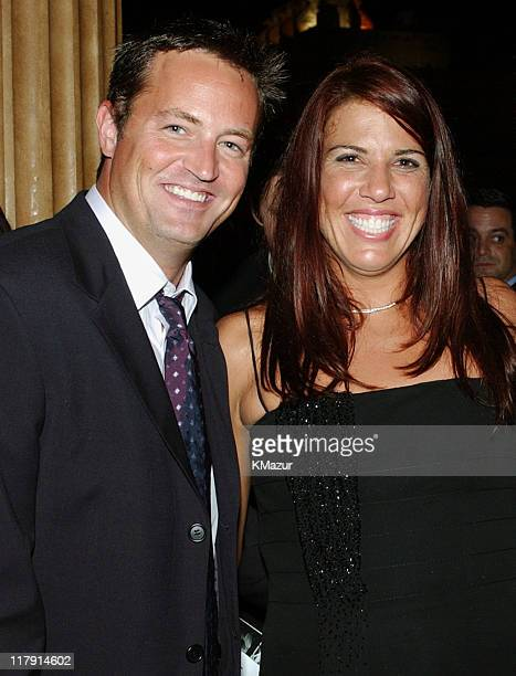 Matthew Perry and Jennifer Capriati during 2002 ESPY Awards After Party at The Highlands in Hollywood California United States