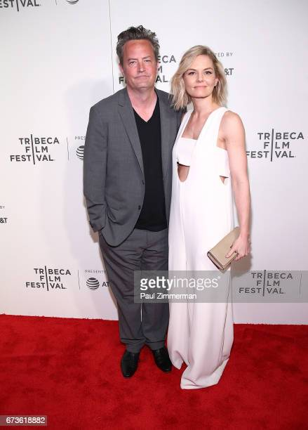 Matthew Perry and Jennifer Morrison attends 2017 Tribeca Film Festival 'The Circle' the at BMCC Tribeca PAC on April 26 2017 in New York City