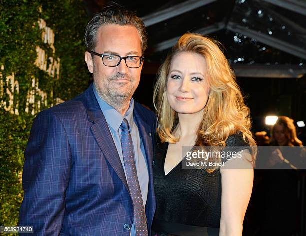 Matthew Perry and Jennifer Mudge arrives at the London Evening Standard British Film Awards at Television Centre on February 7 2016 in London England
