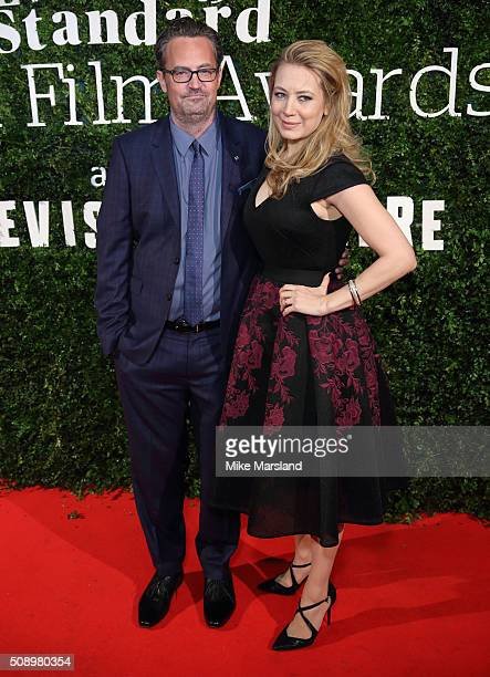 Matthew Perry and Jennifer Mudge attend the London Evening Standard British Film Awards at Television Centre on February 7 2016 in London England
