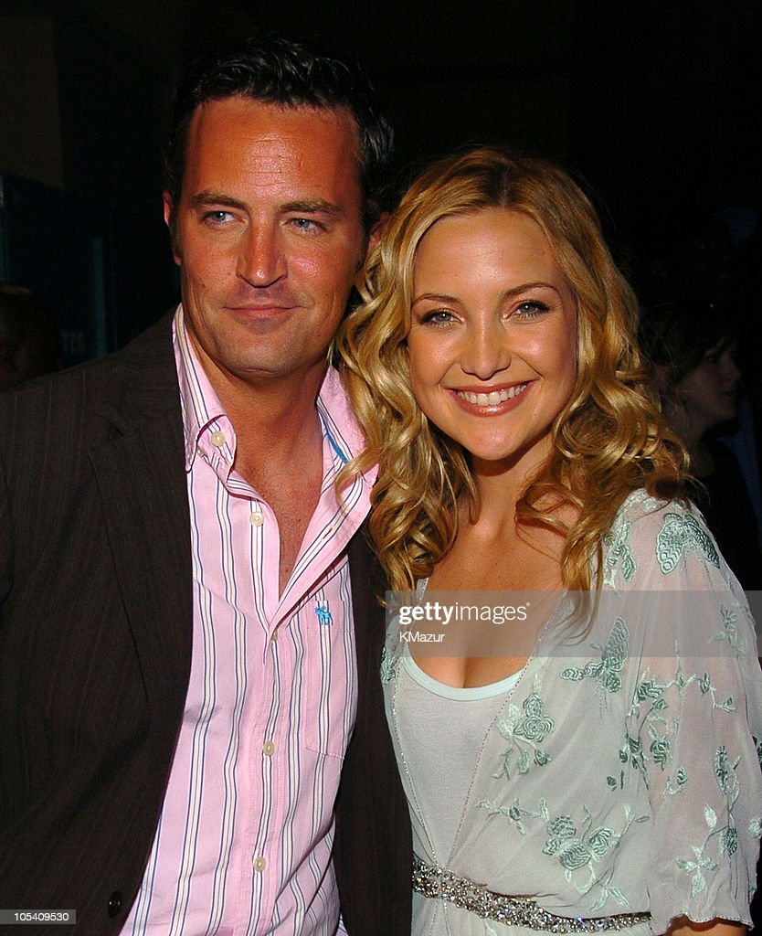 Matthew Perry and Kate Hudson during MTV Movie Awards 2004 - Backstage and Audience at Sony Pictures Studios in Culver City, California, United States.