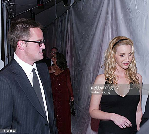 Matthew Perry and Lisa Kudrow backstage during The 29th Annual People's Choice Awards at Pasadena Civic Auditorium in Pasadena CA United States