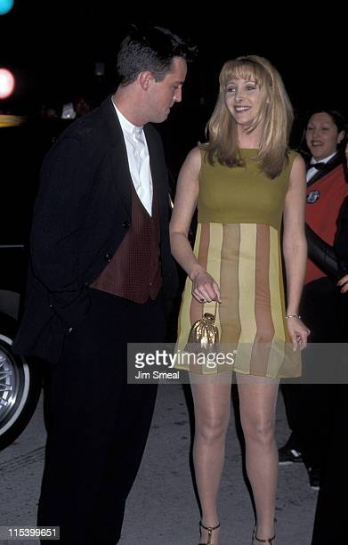 Matthew Perry and Lisa Kudrow during 10th Annual American Comedy Awards at Shrine Auditorium in Los Angeles CA United States