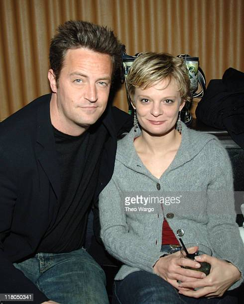 Matthew Perry and Martha Plimpton during The Matrix Men Upfronts Styling Station for the Fresh Air Fund at The Manor in New York City New York United...