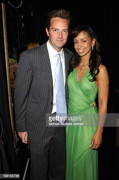 Matthew Perry and Mya during The Lili Claire Foundation's 7th Annual Benefit Gala Hosted by Matthew Perry - Show and Audience at Century Plaza Hotel...