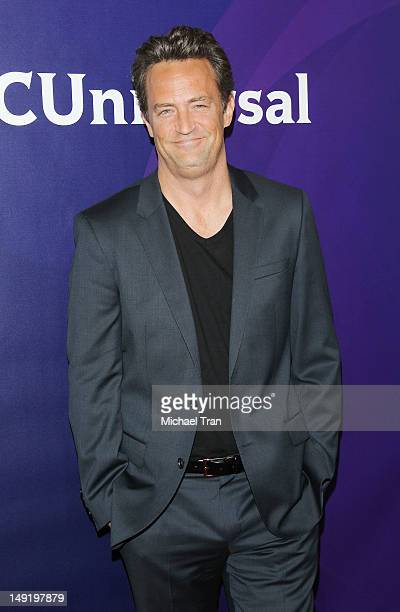 Matthew Perry arrives at the 2012 TCA Summer press tour - NBC photo call - Day 1 held at The Beverly Hilton Hotel on July 24, 2012 in Beverly Hills,...