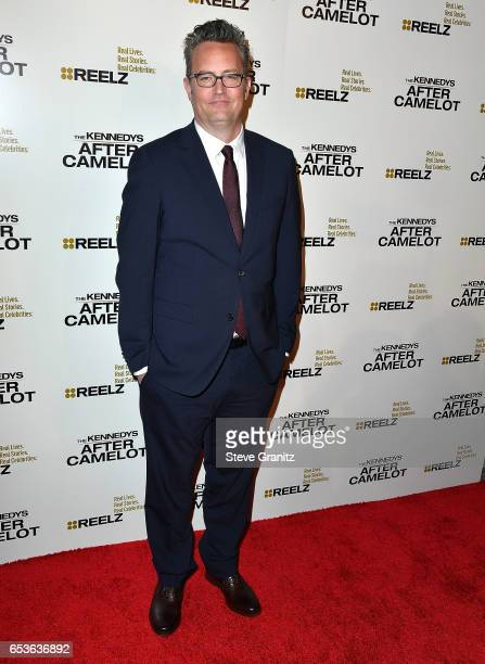 Matthew Perry arrives at the Premiere of Reelz's 'The Kennedys After Camelot' at The Paley Center for Media on March 15 2017 in Beverly Hills...