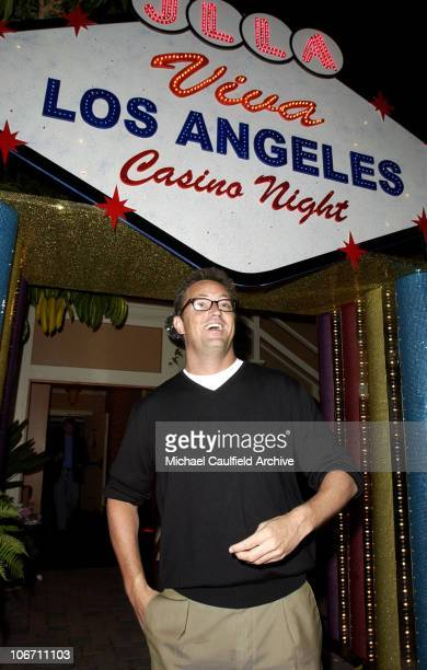 Matthew Perry arrives during Maurice Lacroix Presents The Junior League of Los Angeles 'Viva Los Angeles' Casino Night Inside at Jim Henson Studios...