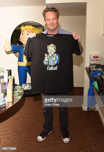 Matthew Perry attends the Fallout 4 Video Game Preview Lounge at Chateau Marmont on November 4 2015 in Los Angeles California
