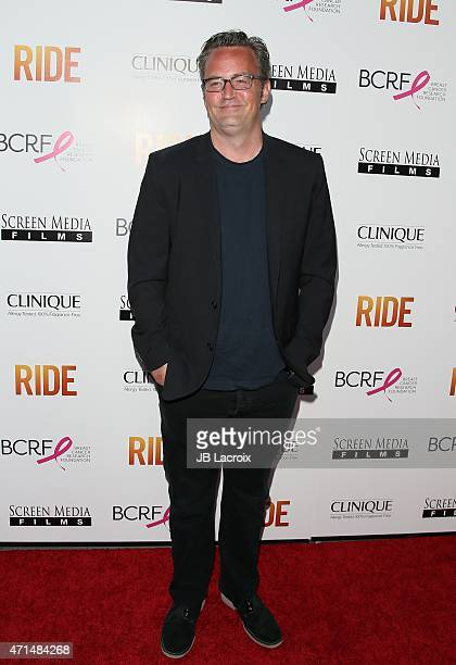Matthew Perry attends the 'Ride' Los Angeles premiere on April 28 2015 in Hollywood California