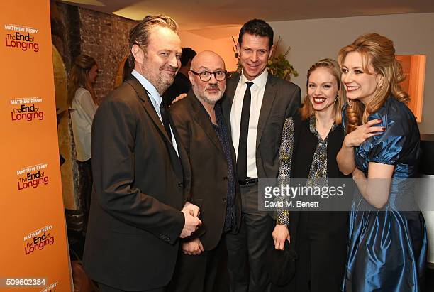Matthew Perry director Lindsay Posner Lloyd Owen Christina Cole and Jennifer Mudge attend an after party celebrating the World Premiere of 'The End...