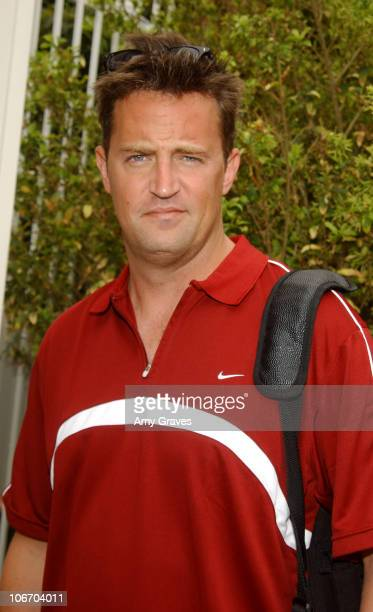 Matthew Perry during 2003 American Airlines Cystic Fibrosis Foundation Grand Slam Celebrity Gala And Tournament at Riviera Country Club in Pacific...