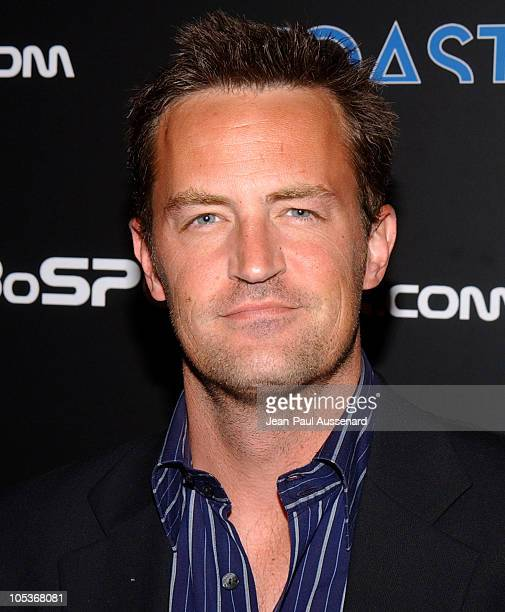 Matthew Perry during BosPokercom 2004 Celebrity Poker Tournament Arrivals at Private residence in Beverly Hills California United States