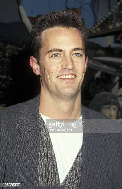 Matthew Perry during 'Fools Rush In' Presentation of Props to Planet Hollywood in New York City at Planet Hollywood in New York City New York United...