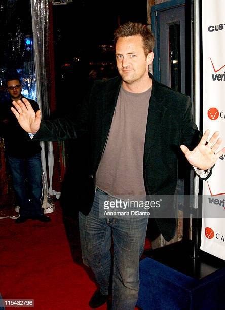 Matthew Perry during James Blunt in Concert at the House of Blues in Los Angeles Arrivals February 7 2006 at House Of Blues Sunset in Los Angeles...