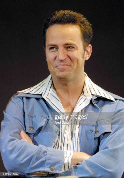 Matthew Perry during Matthew Perry In The Theatrical Production OF 'Sexual Perversity In Chicago' at Comedy Theatre in London Great Britain