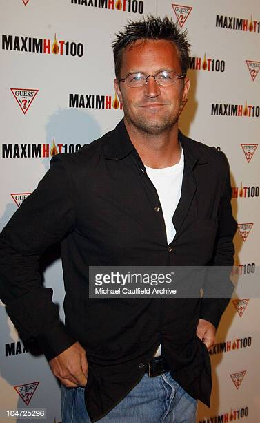 Matthew Perry during Maxim Hot 100 Party Arrivals at Yamashiro in Hollywood California United States