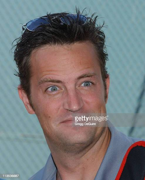 Matthew Perry during Racquet Rumble 2004 Celebrity Tennis Tournament at Riviera Tennis Club in Pacific Palisades California United States