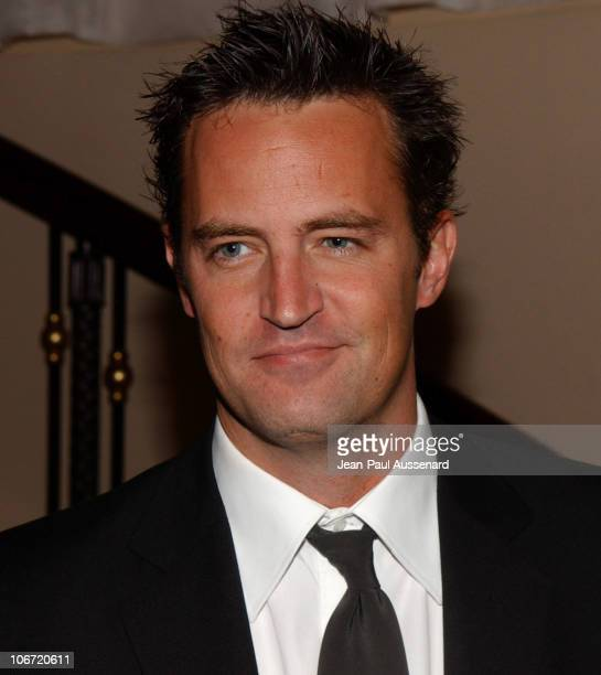 Matthew Perry during The Museum of Television and Radio Honors CBS News's Dan Rather and 'Friends' Producing Team Inside at Beverly Hills Hotel in...