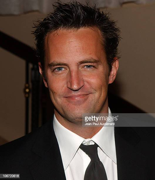 Matthew Perry during The Museum of Television and Radio Honors CBS News's Dan Rather and Friends Producing Team Inside at Beverly Hills Hotel in...