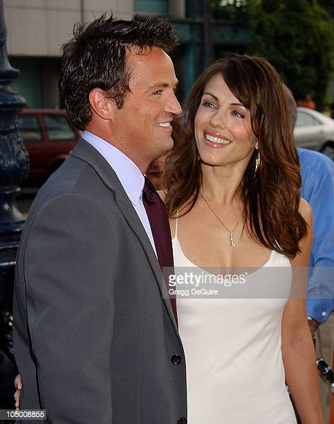 Matthew Perry Elizabeth Hurley during 'Serving Sara' Premiere at Academy Theatre in Beverly Hills California United States