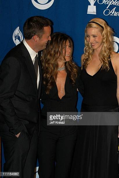 Matthew Perry Jennifer Aniston and Lisa Kudrow during The 29th Annual People's Choice Awards at Pasadena Civic Center in Pasadena CA United States