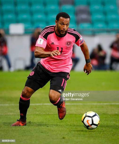 Matthew Phillips of Scotland in action during the FIFA 2018 World Cup Qualifier match between Slovenia and Scotland at stadium Stozice on October 08...