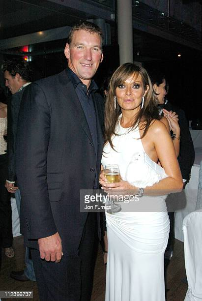 Matthew Pinsent and Carol Vorderman during GQ Men of the Year Awards 2004 After Party at Royal Opera House in London Great Britain